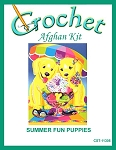 Summer Fun Puppies Crochet Afghan Kit