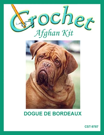 Dogue De Bordeaux Crochet Afghan Kit