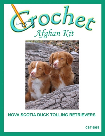 Nova Scotia Duck Tolling Retrievers Crochet Afghan Kit