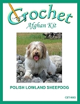 Polish Lowland Sheepdog Crochet Afghan Kit