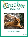 Red Chow Chow Crochet Afghan Kit