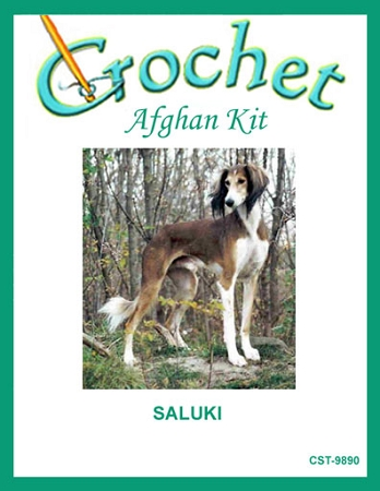 Saluki Crochet Afghan Kit