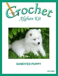 Samoyed Puppy Crochet Afghan Kit