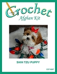 Shih Tzu Puppy Crochet Afghan Kit