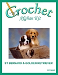 St. Bernard & Golden Retreiver Crochet Afghan Kit