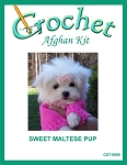 Sweet Maltese Pup Crochet Afghan Kit