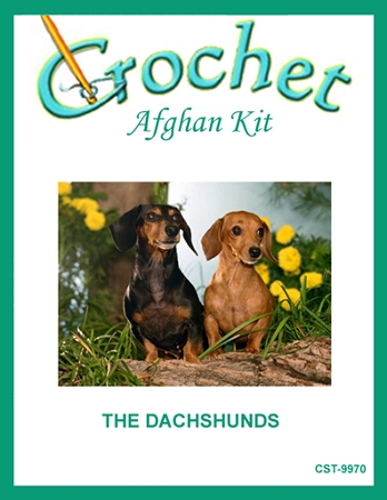 The Dachshunds Crochet Afghan Kit