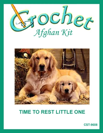 Time To Rest Little One Crochet Afghan Kit