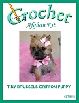 Tiny Brussels Griffon Puppy Crochet Afghan Kit