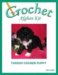 Tuxedo Cocker Puppy Crochet Afghan Kit