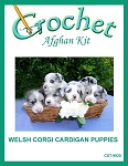 Welsh Corgi Cardigan Puppies Crochet Afghan Kit