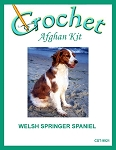 Welsh Springer Spaniel Crochet Afghan Kit