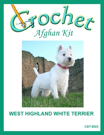 West Highland White Terrier Crochet Afghan Kit