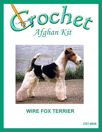Wire Fox Terrier Crochet Afghan Kit