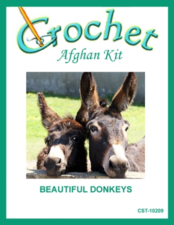 Beautiful Donkeys Crochet Afghan Kit