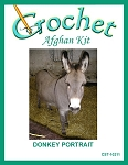 Donkey Portrait Crochet Afghan Kit