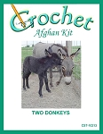 Two Donkeys Crochet Afghan Kit