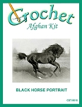 Black Horse Portrait Crochet Afghan Kit