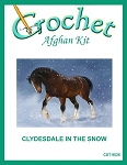 Clydesdale In The Snow Crochet Afghan Kit