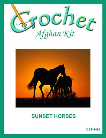 Sunset Horses Crochet Afghan Kit