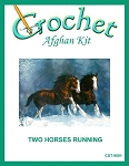 Two Horses Running Crochet Afghan Kit