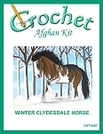 Winter Clydesdale Horse Crochet Afghan Kit
