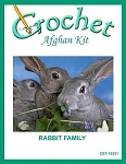 Rabbit Family Crochet Afghan Kit