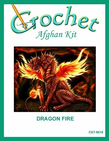 Dragon Fire Crochet Afghan Kit