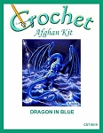 Dragon In Blue Crochet Afghan Kit