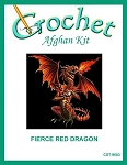 Fierce Red Dragon Crochet Afghan Kit