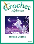 Standing Unicorn Crochet Afghan Kit