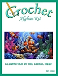Clown Fish In The Coral Reef Crochet Afghan Kit