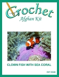Clown Fish With Sea Coral Crochet Afghan Kit