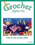 Fish In The Coral Reef Crochet Afghan Kit