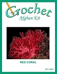 Red Coral Crochet Afghan Kit