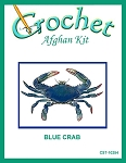 Blue Crab Crochet Afghan Kit
