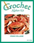 Crab Collage Crochet Afghan Kit