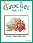 Hermit Crab Portrait Crochet Afghan Kit