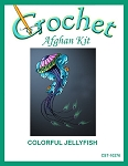 Colorful Jelly Fish Crochet Afghan Kit