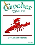 Little Red Lobster Crochet Afghan Kit