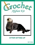 Otter Sitting Up Crochet Afghan Kit