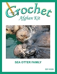 Sea Otter Family Crochet Afghan Kit
