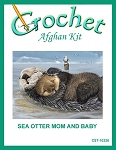 Sea Otter Mom And Baby Crochet Afghan Kit