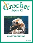 Sea Otter Portrait Crochet Afghan Kit