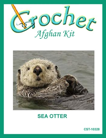 Sea Otter Crochet Afghan Kit