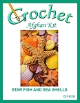 Star Fish And Sea Shells Crochet Afghan Kit