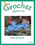 Blue Sea Slug Crochet Afghan Kit