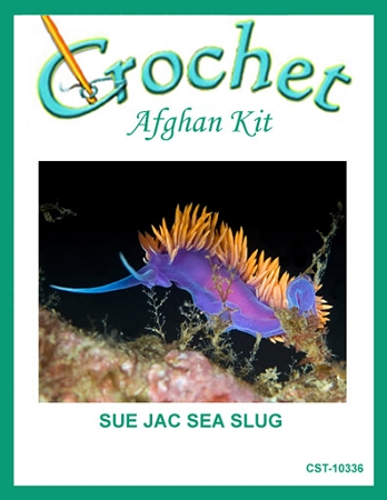 Sue Jac Sea Slug Crochet Afghan Kit
