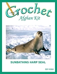 Sunbathing Harp Seal Crochet Afghan Kit