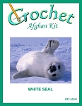 White Seal Crochet Afghan Kit